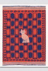 Cat On Carpet Greeting Card