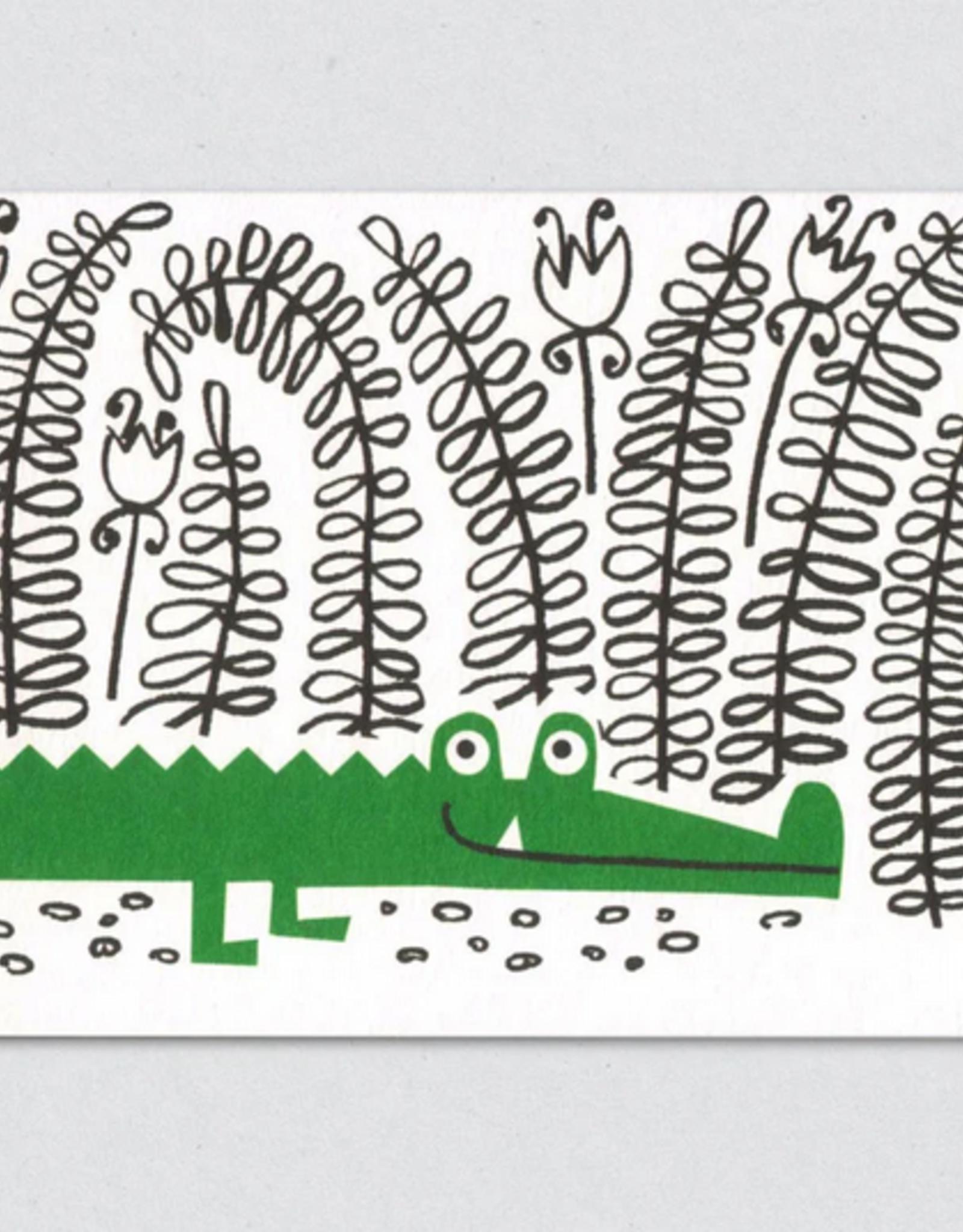 Sneaky Crocodile Greeting Card