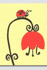 Googly Eyed Ladybug Greeting Card