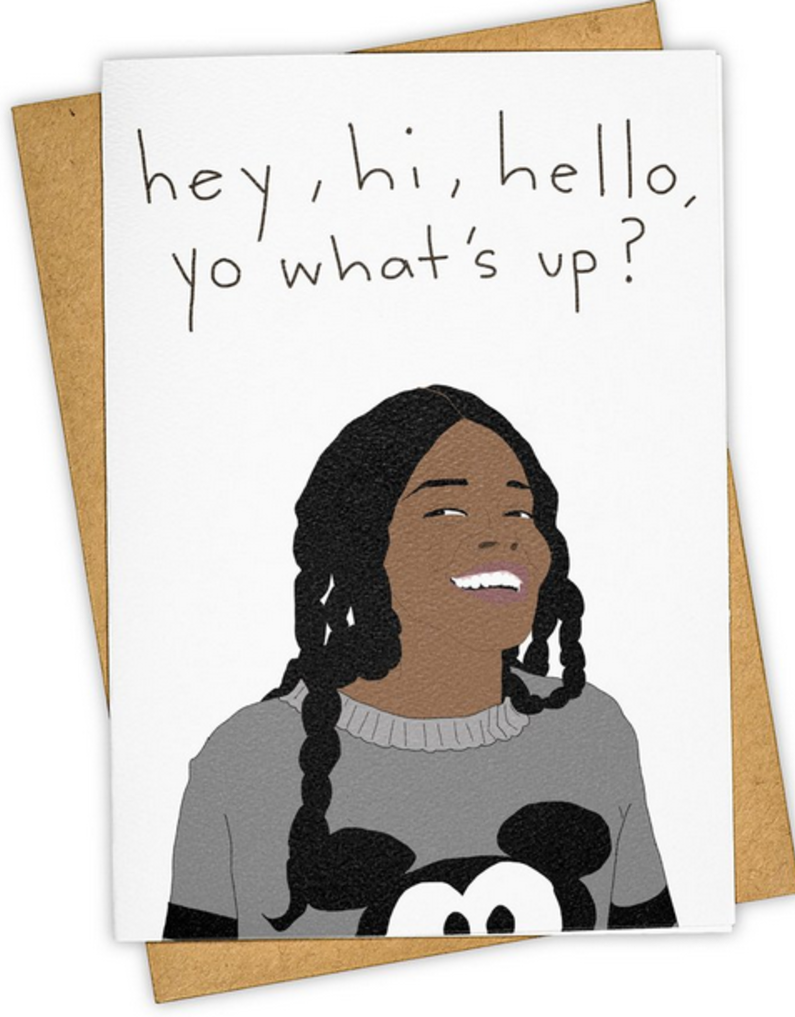 Azealia Banks Yo What's Up Greeting Card