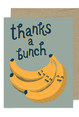 Thanks a Bunch Bananas Greeting Card