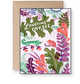 Long Time No See Lizard Greeting Card