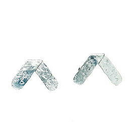 Axis Hammered Earrings - Silver