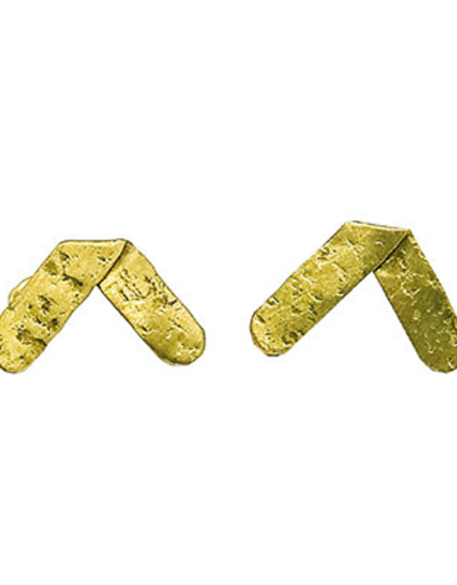 Axis Hammered Earrings - Gold