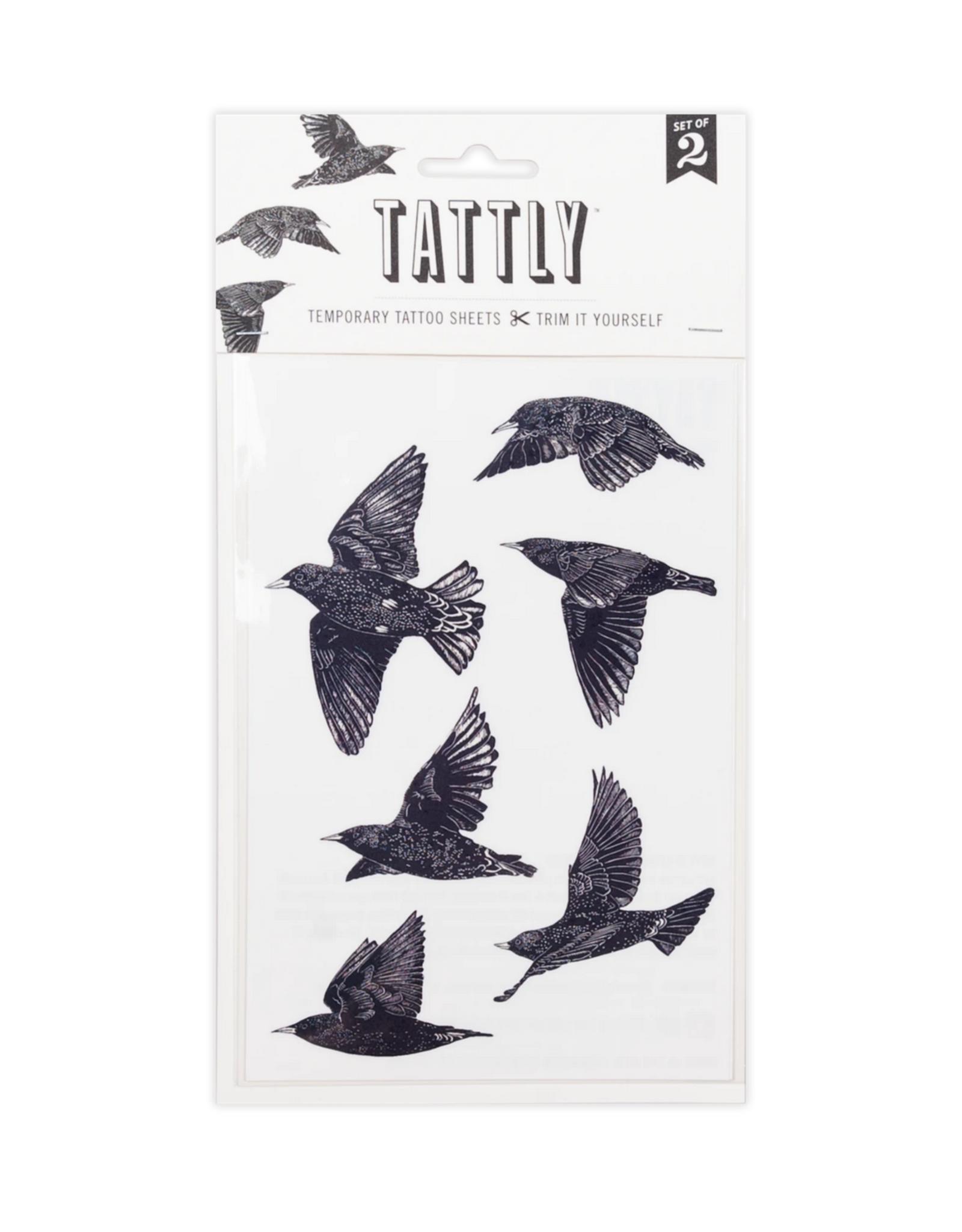 European Starlings Tattoo Sheet