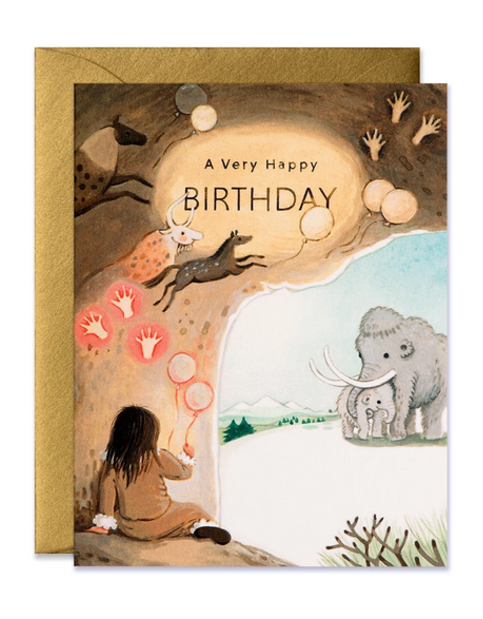 A Very Happy Birthday (Caveman) Greeting Card
