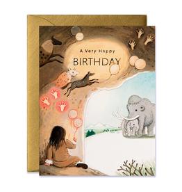 A Very Happy Birthday (Caveman) Greeting Card