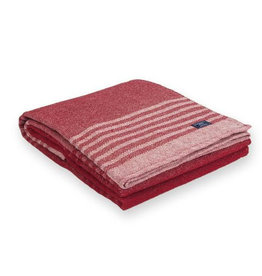 Eco Cotton Linear Striped Throw - Red