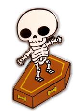 Skull Surfer Enamel Pin