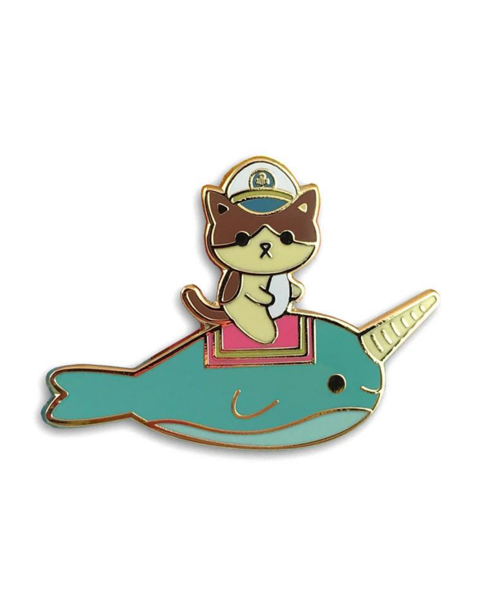 Admiral Whiskers Narwhal Enamel Pin