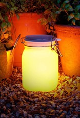 Solar-Powered Mason Jar Lamp