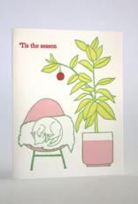Tis the Season House Plant & Cat Greeting Card