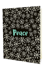 Snowy Peace Holiday Greeting Card