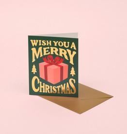 Merry Christmas Present Greeting Card