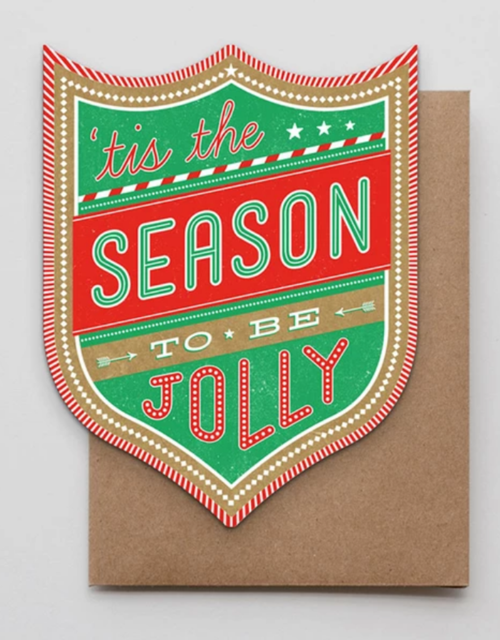 Tis The Season Badge Greeting Card