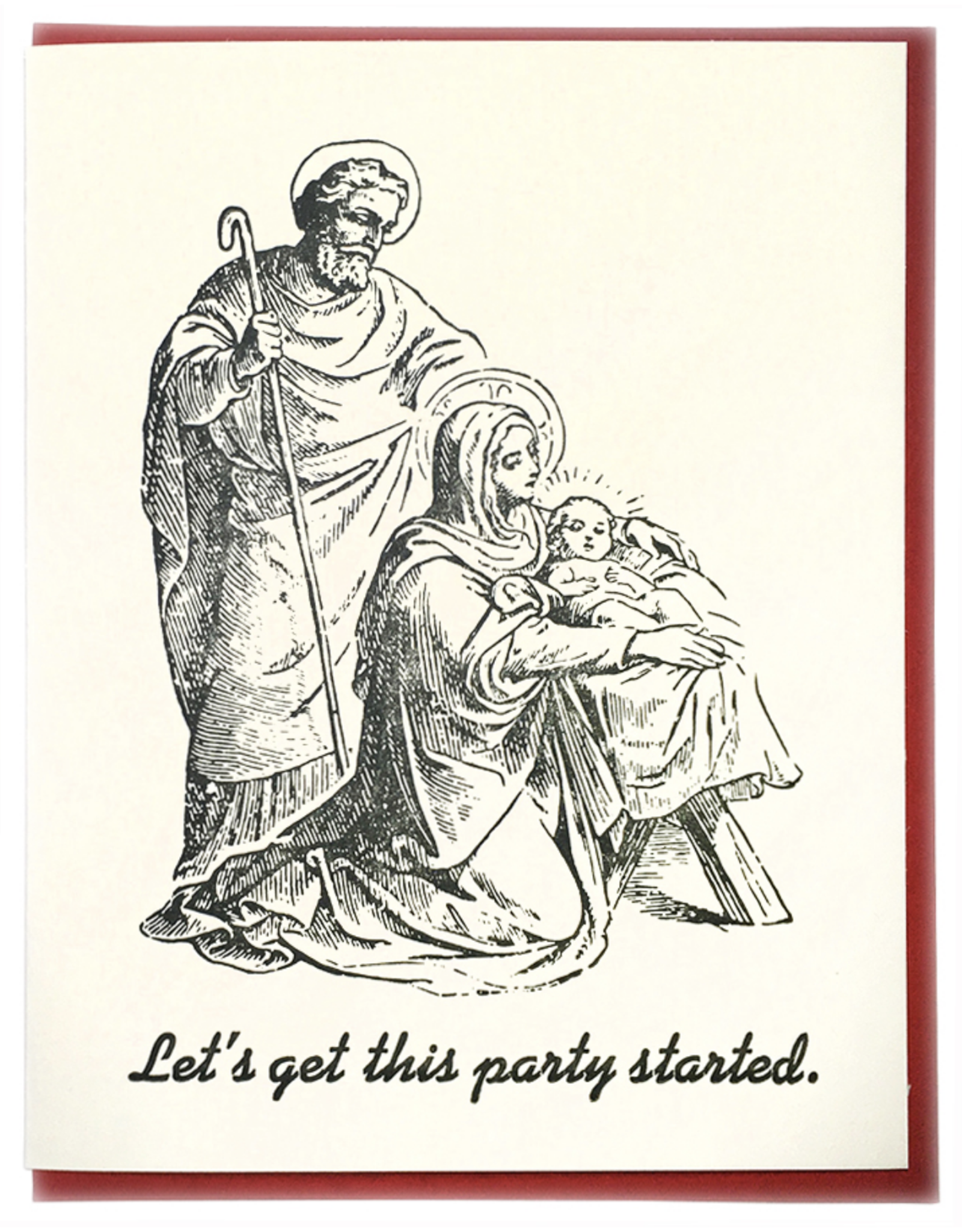 Party Started (Baby Jesus) Greeting Card