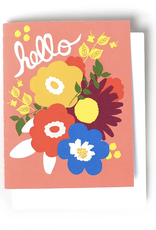 Hello (Flowers) Greeting Card