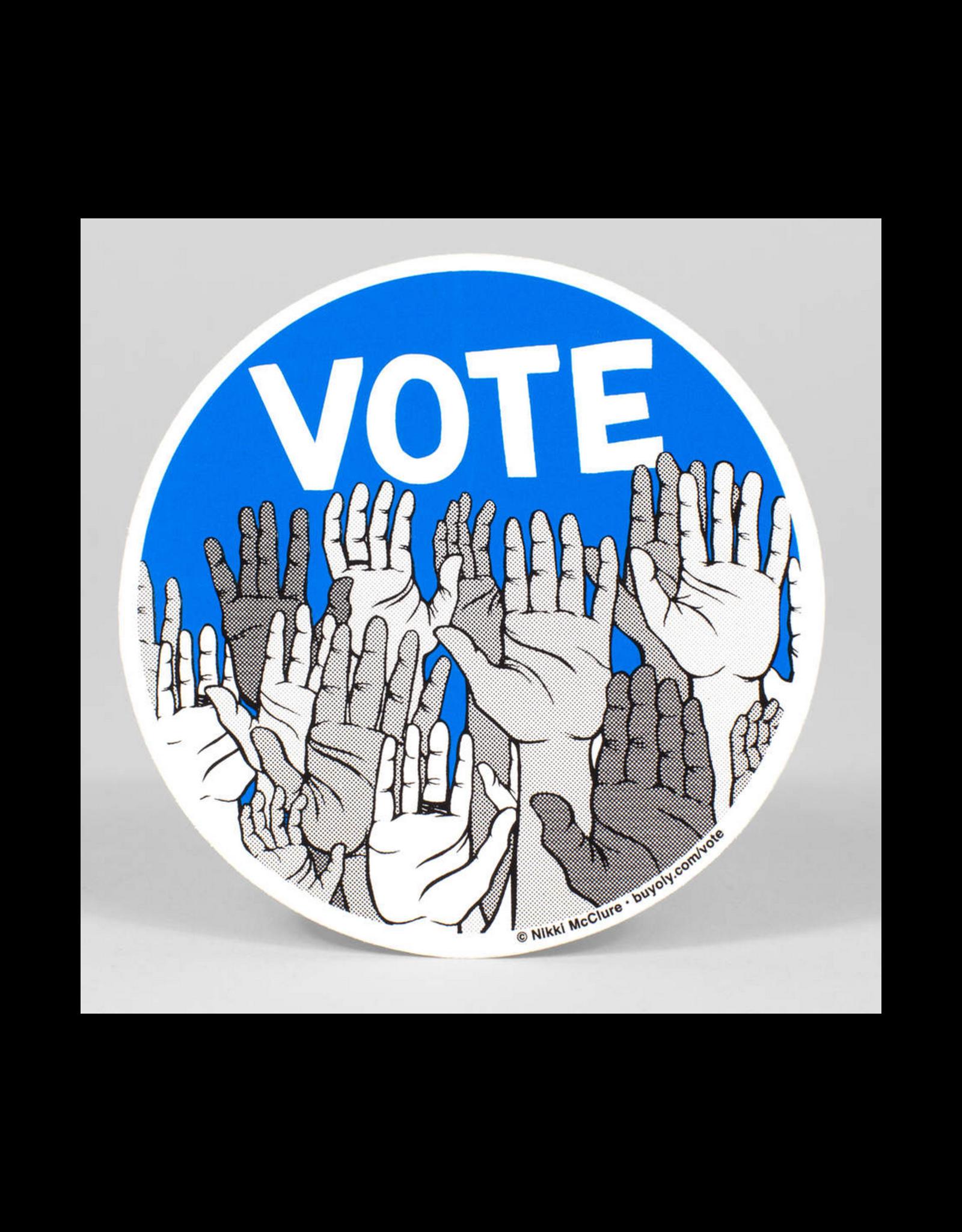 Vote Circle Sticker