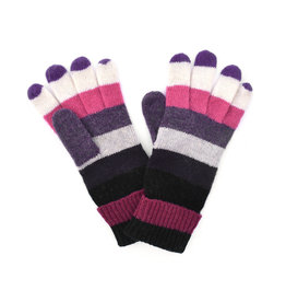 Wool Striped Gloves