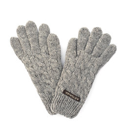 Cable Knit Gloves - Light Grey