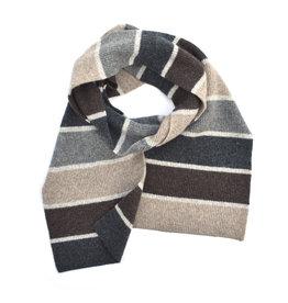 Wool Knit Stripe Scarf