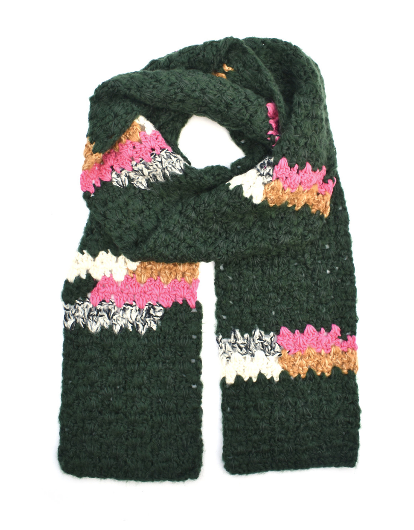Melange Hand Crochet Scarf