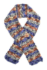 Hand Knitted Space-Dye Stripe Scarf