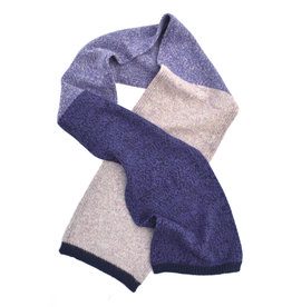 Marled Wool Colorblock Scarf