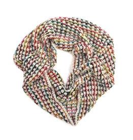 Rainbow Chunky Knit Scarf