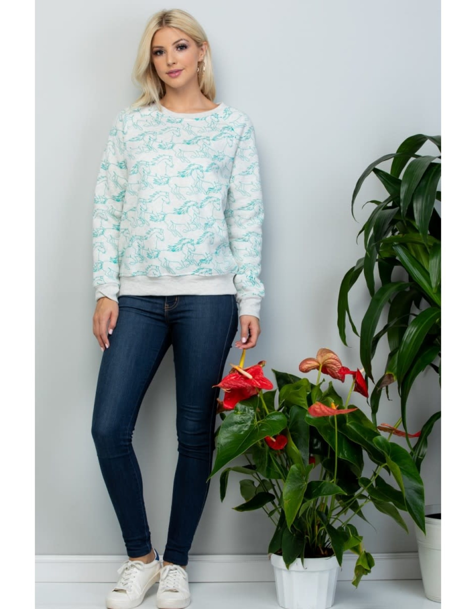 Horse Print Sweatshirt