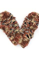 Hand Knitted Mitten - Brown
