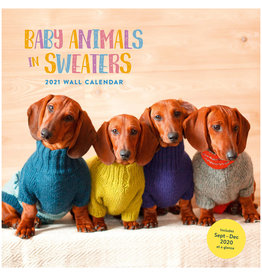 Baby Animals in Sweaters Wall Calendar 2021