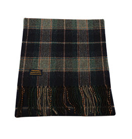 Lambswool Fring Scarf - Country Check Navy