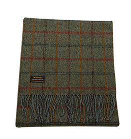 Birchwood Trading Co. Lambswool Fring Scarf - Country Check Sage