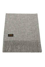 Lambswool Fring Scarf - Steel