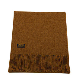 Lambswool Fring Scarf - Old Gold