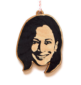 Kamala Harris Wooden Ornament