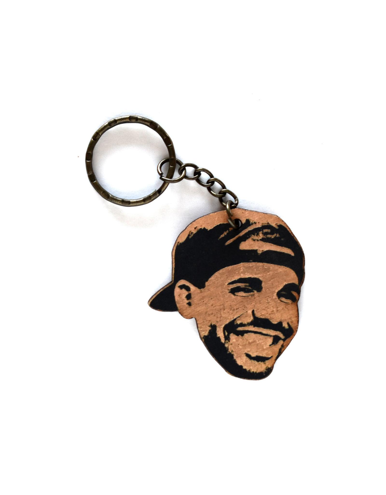 Drake Wooden Keychain
