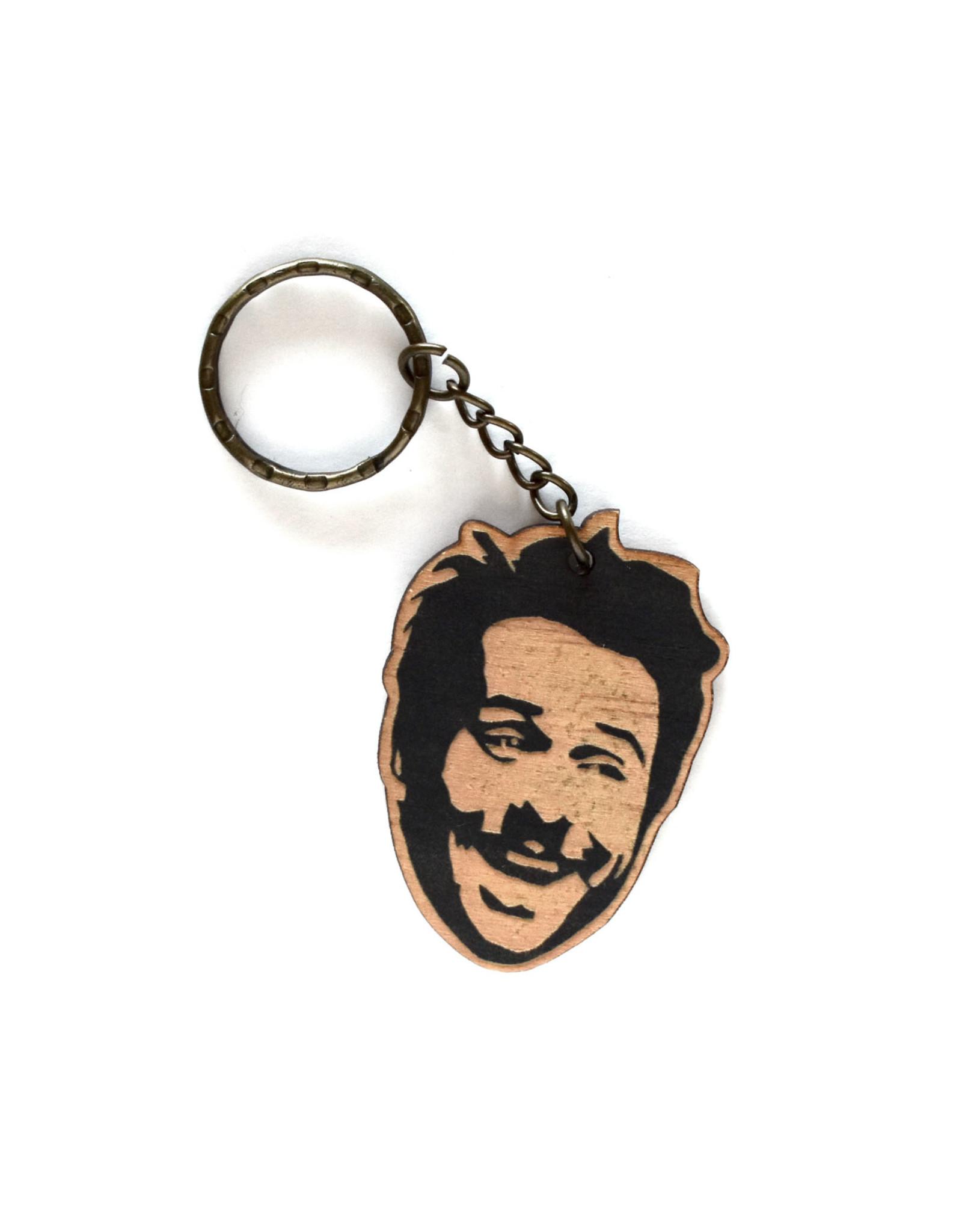 Charlie Day Wooden Keychain