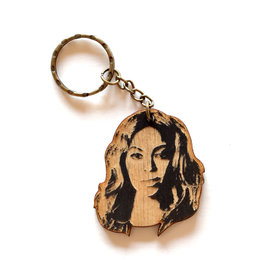 Beyonce Wooden Keychain