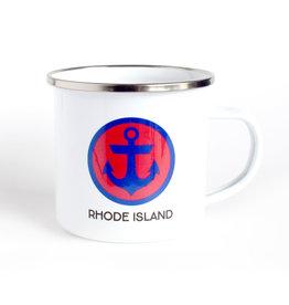 Rock Scissor Paper Rhode Island Camp Mug - Anchor