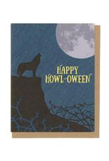 Happy Howl-Oween Wolf Greeting Card