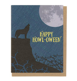 Happy Howl-Oween Wolf Greeting Card