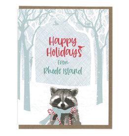 Happy Holidays From RI (Raccoon) Box Card Set