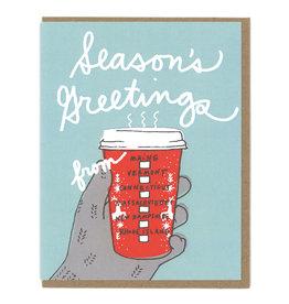 New England Greetings Coffee Cup Greeting Card