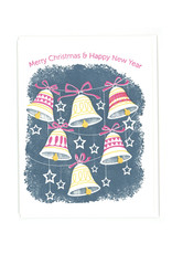 Merry Christmas & Happy New Year Bells Greeting Card