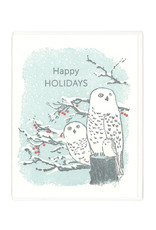 Happy Holidays Owl Greeting Card