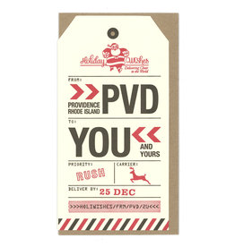 Holiday  PVD Luggage Tag Greeting Card