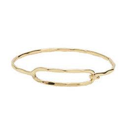 Rippled Ellipse Bracelet - Gold