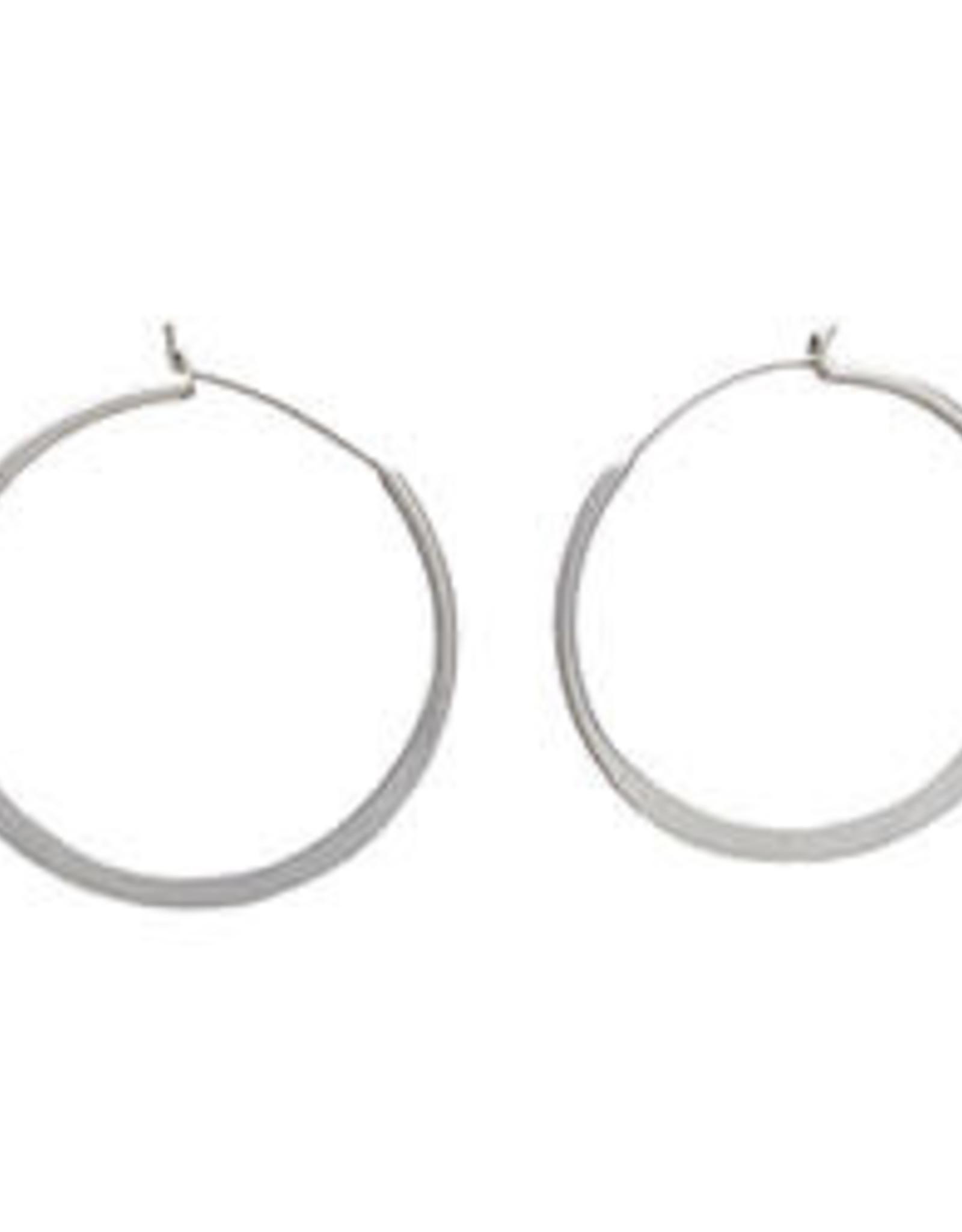 Organic Hoops - Silver